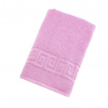 Полотенце махровое однотонное антей цв розовый 70*140см 100% хлопок 430 гр