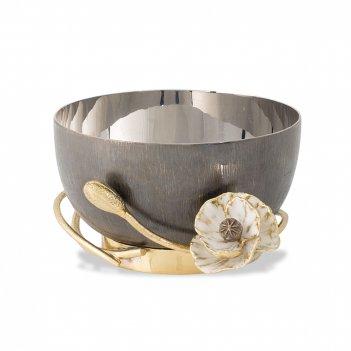 Чаша «анемоны», размер: 17 х 10 х 7 см, материал: нержавеющая сталь, латун