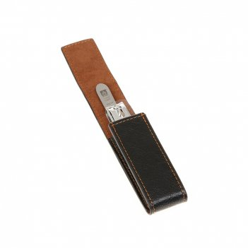 Маникюрный набор dewal серии for men, 2пр. футляр: натур.кожа, цвет черный