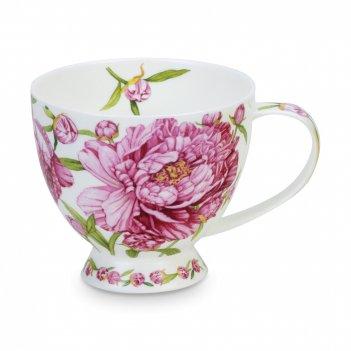 Чашка чайная «пион скай», объем: 450 мл, материал: костяной фарфор, декор,
