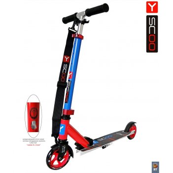 Y-scoo rt mini city 125 montreal red+blue