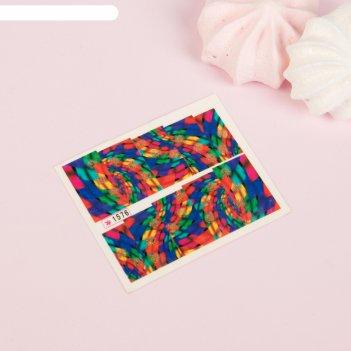 Слайдер-дизайн для ногтей «калейдоскоп», с блёстками, разноцветный