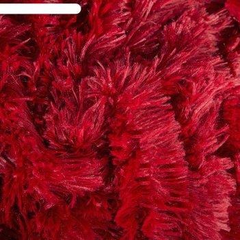 Плед мех шиншилла двухсторонний, 240х220 см, бордо