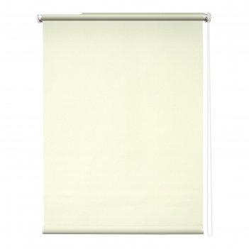 Рулонная штора «сильвер», 40х175 см, блэкаут, цвет бежевый