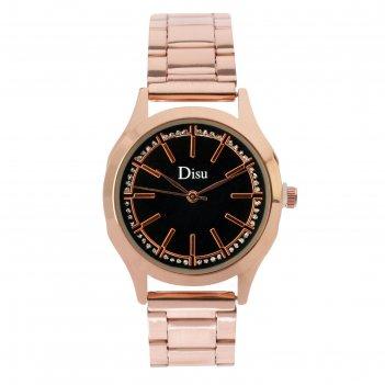 Часы наручные женские сильвина, циферблат d=3.2 см, золото