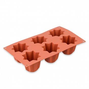 Форма для приготовления пирожного mini pandoro, материал: силикон, 26.100.
