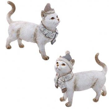 Фигурка декоративная кошка, l19,5 w7,5 h17,5см, 2в