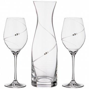 Набор декантер и 2 бокала для вина силуэт 1000/360 мл