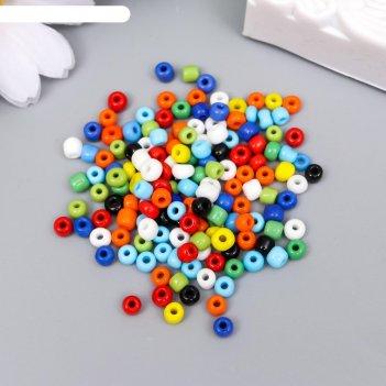 Бисер круглый 6/0 разноцветный 30 гр