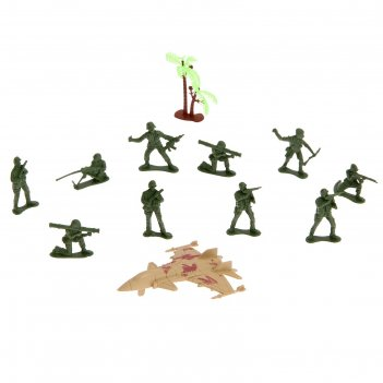 Набор солдатиков десант, с аксессуарами