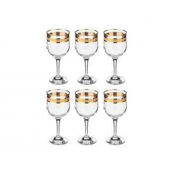 Набор  фужеров для вина из 6 шт. кристалл