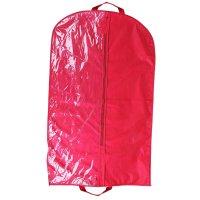 Чехол для одежды 140х60 см, полузакрытый, цвет бордовый