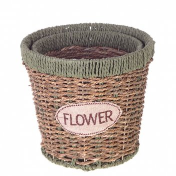 Кашпо flower, набор из 2-х шт, l18/15 w18/15 h16/14,5 см