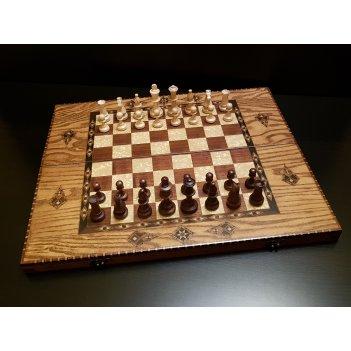 Шахматы - нарды гранд ясень антик