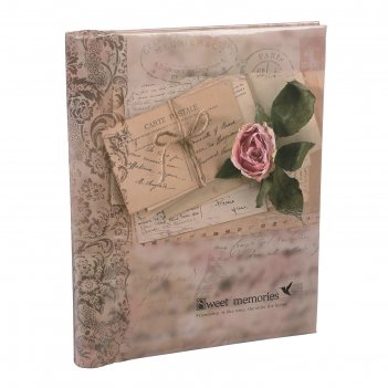Фотоальбом магнитный 20 листов любовные письма. ретро 25,5х20х2,8 см