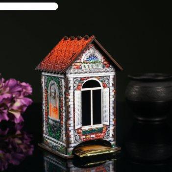 Чайный домик дом из красного кирпича