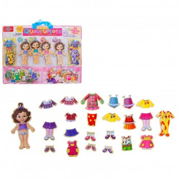 Игра магнитная куколки - малышки, 64 элемента, кукла — 13,5 см