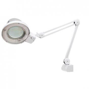 Лупа с подсветкой 3 кратная, d 125 мм, со струбцинным креплением к столу m