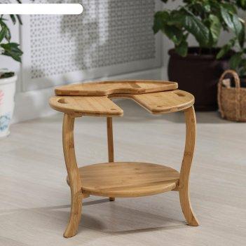 Столик-поднос для кальяна, 38x35 см, бамбук