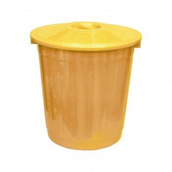 Бак с крышкой 50л желтый