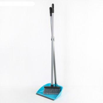 Набор для уборки: щётка, совок, цвет микс