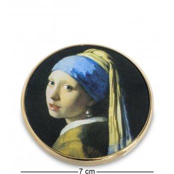 Pr-m28ve зеркальце девушка с жемчужной сережкой ян вермеер (museum.parasto