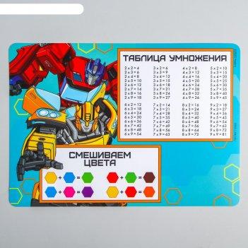 Коврик для лепки «трансформеры» transformers, формат а4