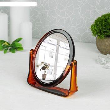 Зеркало настольное на подставке овальное, двухстороннее, с увеличением, по