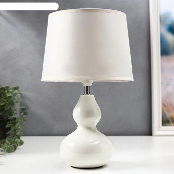 Настольная лампа валенсия 1x40вт e14 белый 21х21х32см