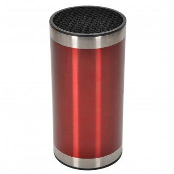 Подставка для ножей 23x11x11 см, красная