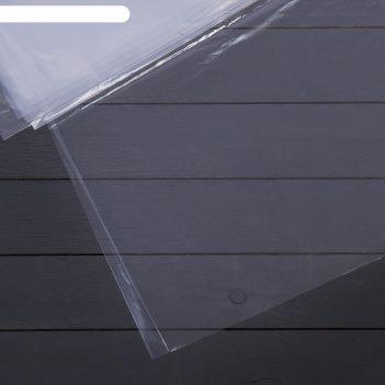 Плёнка полиэтиленовая, толщина 80 мкм, 3 x 10 м, полотно, прозрачная, 1 со