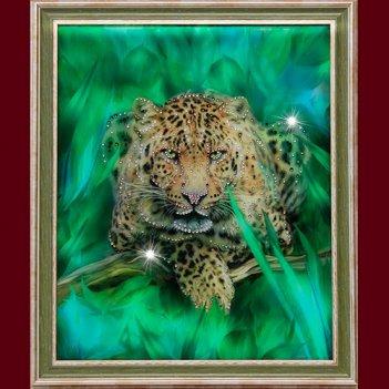 Картина сваровски - гепард