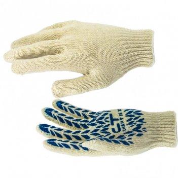 Перчатки х/б, пвх покрытие, протектор 7 класс россия сибртех