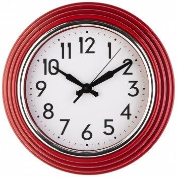 Часы настенные кварцевые lovely home диаметр 30 см цвет:красный (кор=6шт.)