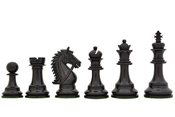 Шахматные фигуры ручной работы честерфильд из эбена, 11см