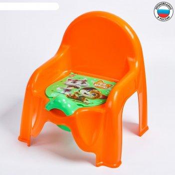 Горшок-стульчик детский 44 котёнка, цвет оранжевый