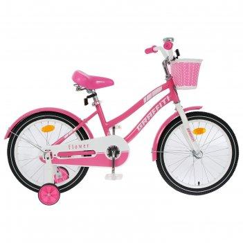 Велосипед 18 graffiti flower, цвет розовый/белый