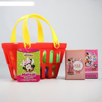 Игровой набор минни корзина с продуктами