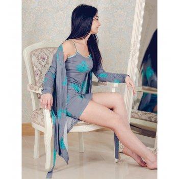 Сорочка + халат для дома 308р