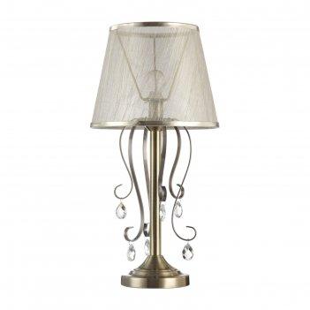 Настольная лампа simone 1x40w e14 бронза  28x28x55,9см