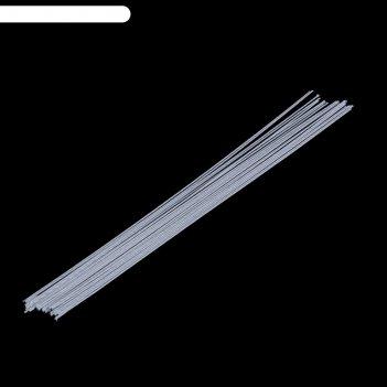 Флористическая проволока белая (набор 20 шт) 1,2 мм, 36 см