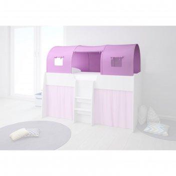 Тент игровой для кровати-чердака polini kids simple 4100, цвет розовый