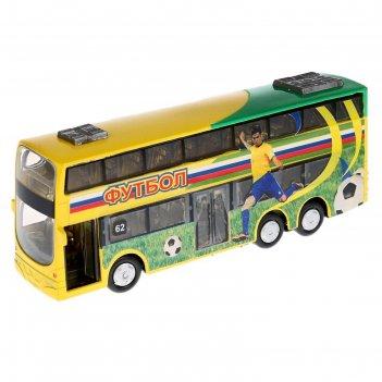 Автобус металлический, инерционный, световые и звуковые эффекты, двери отк