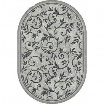 Овальный ковёр бцф silver d230, 180 x 250 см, цвет light gray