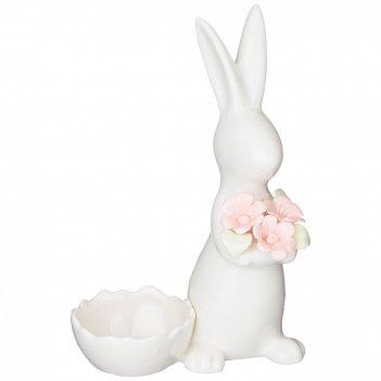 Подставка под яйцо весенний кролик 10*7*15.5 см. (кор=24шт.)