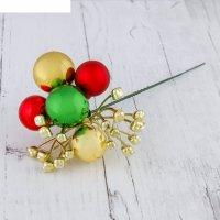 Декор палочка новогодняя 20 см бусины