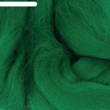 Шерсть для валяния 100% тонкая шерсть 50гр (335 изумруд)