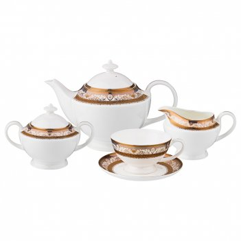 Чайный сервиз на 6 персон 15 пр. богема 1200/300/250/250 мл. (кор=2набор.)