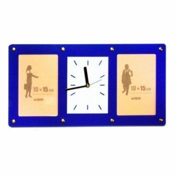Часы счастливый миг- с фоторамками 10х15см (2шт) fr0205 20х4