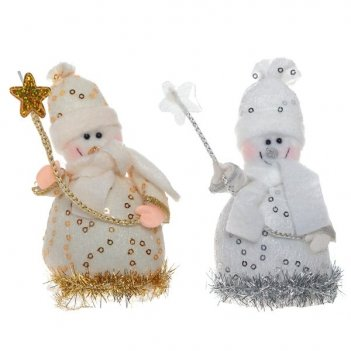 Новогоднее украшение снеговик, 11 см, 2 в.